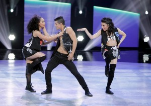 "SO YOU THINK YOU CAN DANCE: L-R: Top 18 contestants Yorelis Apolinario, Edson Juarez and Jessica ""JJ"" Rabone perform a Jazz routine choreographed by Tovaris Wilson on SO YOU THINK YOU CAN DANCE airing Monday, July 27 (8:00-10:00 PM ET live/PT tape-delayed) on FOX. ©2015 FOX Broadcasting Co. Cr: Adam Rose"