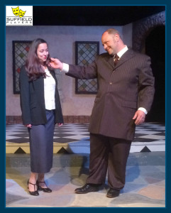 Much Ado - Becky Schoenfeld as Conrade and Tim Reilly as Don John