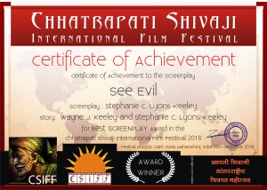 see evil - winner certification-Csiff